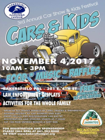 Bakersfield Police Activities League Hosting Rd Annual Car Show - Bakersfield car show