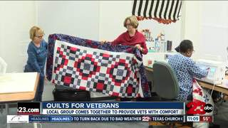Women make quilts for veterans