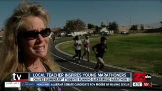 Local teacher inspires sixth-grade marathoners