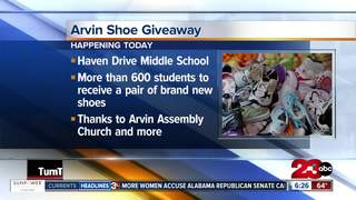 Students in Arvin to receive shoes, socks