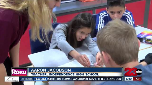 Local high school students teach science and energy to Bakersfield children