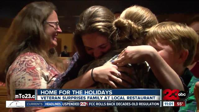Veteran returns home for the holidays