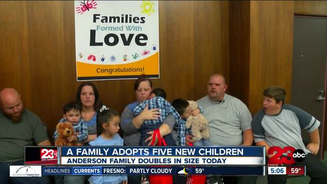 Family celebrates National Adoption Day by adopting son