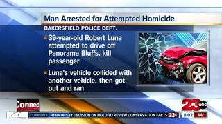 Man arrested after attempting to kill passenger