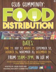 CSUB hosts food distribution event on Monday