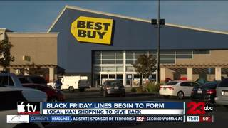 Black Friday shopper camped out to give back