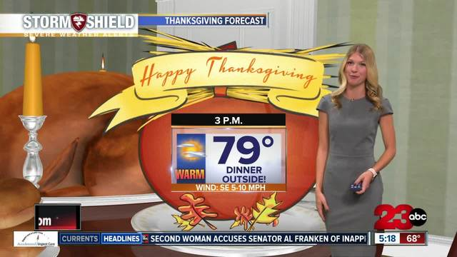 Record breaking heat this week as the clouds clear- Thanksgiving will be…