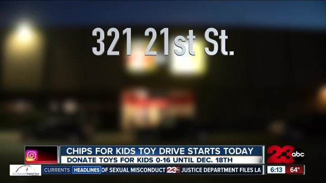CHiPs for Kids Toy Drive kicks off and 23ABC is a proud sponsor