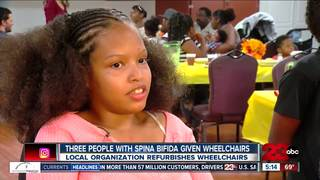 Motorized wheelchairs donated to those in need