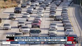 51 million expected to travel for Thanksgiving