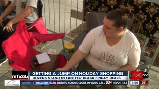 In line for days; Black Friday shopping starts