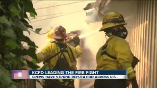 KCFD aiding in southern California firefights