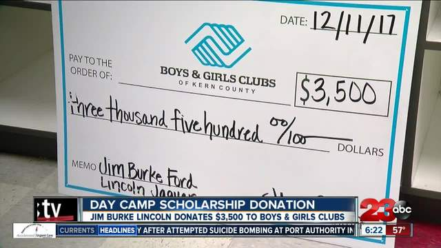 Jim Burke Lincoln donates -3500 to Boys and Girls Clubs of Kern County