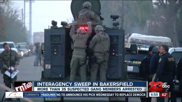 Interagency sweep goes after local gang members