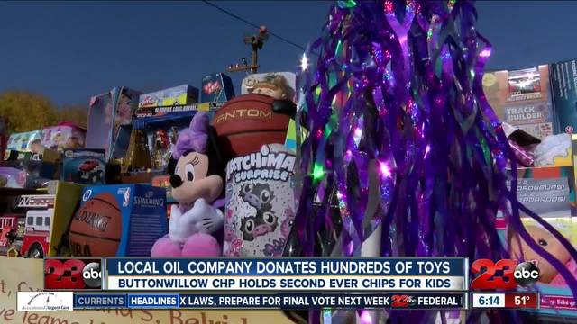 Employees of Sentinel Peak Resources donate hundreds of toys for CHP Toy Drive