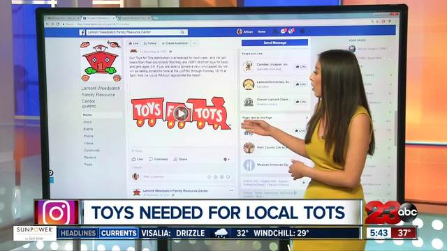 New- unwrapped toys needed for Lamont area