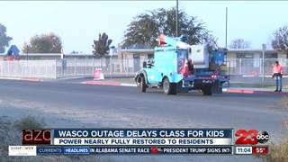 Power outage disrupts Wasco elementary school