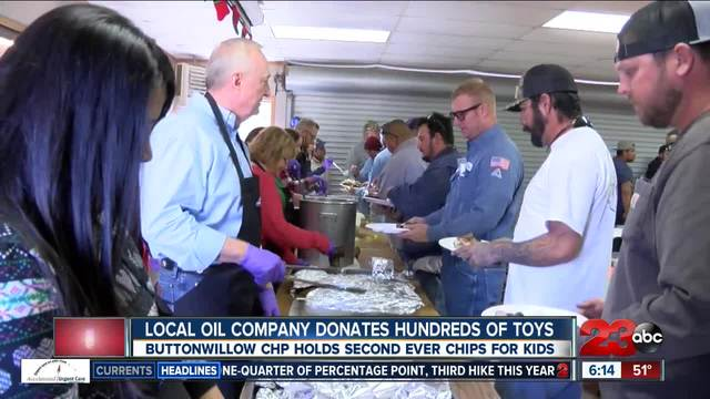 Local oil company holds toy drive to benefit Buttonwillow CHP CHiPs for Kids
