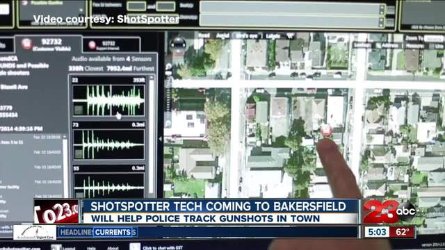 Shotspotter gun detection technology coming to Bakersfield