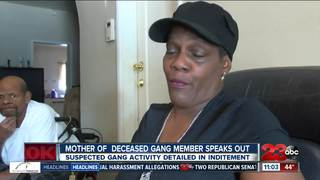 Mother of deceased gang member speaks out