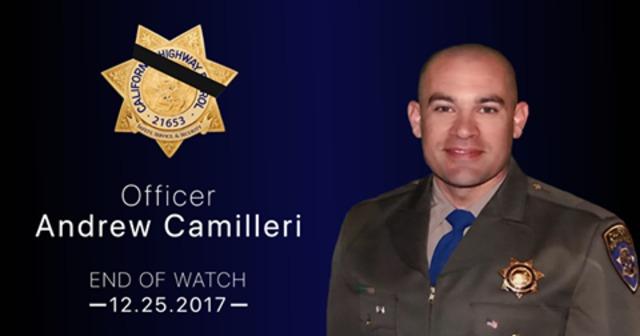 Calif. officer killed, another injured in Christmas Eve crash