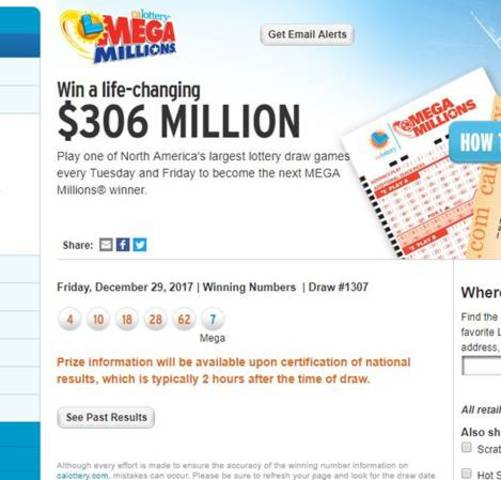 No one won Friday's Mega Millions; Tuesday's jackpot grows to $343M
