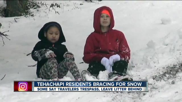 Residents of Tehachapi are preparing for snow and the visitors that come with it