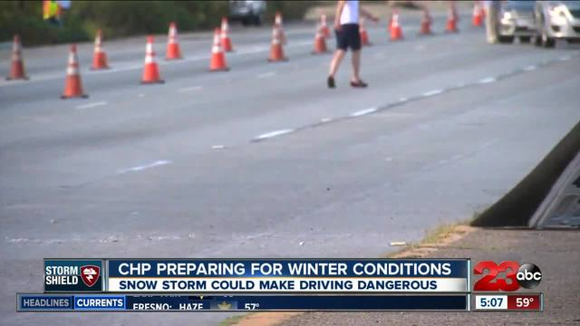 CHP recommends Grapevine drivers prepare for snow