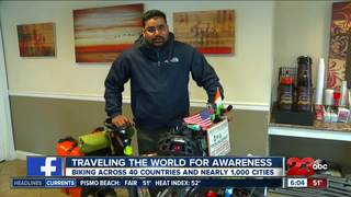 An India native is traveling the world by bike