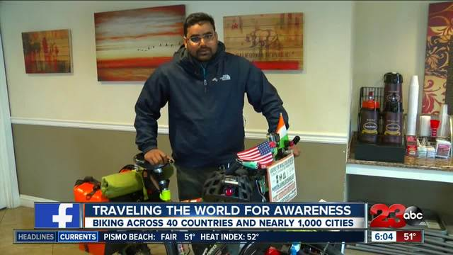 An India native is traveling the world by bike- started world tour on…