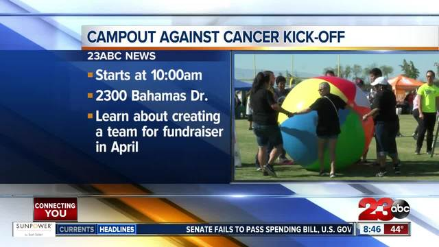 Campout against cancer holds kick-off on Saturday