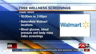 Walmart offers free health screenings on Sat.