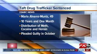 Man sentenced: 10 years for drug trafficking