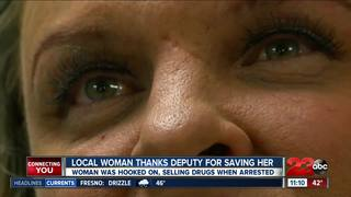 Woman reunites with deputy who arrested her