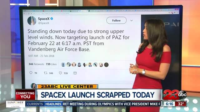 Space X standing down on Wednesday- Rescheduled for Thurs-