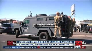 10 agencies raid 7 buildings in S Bakersfield