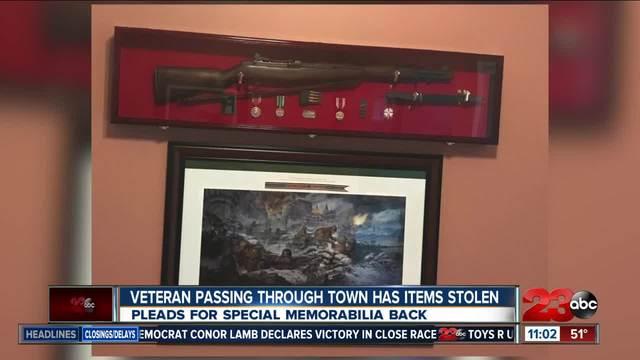 Veteran makes plea for stolen belongings