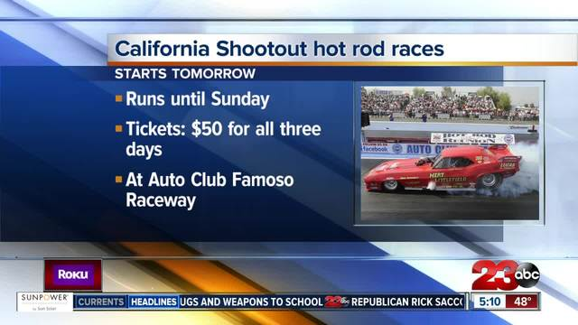 California Shootout Hot Rod Races at Famoso Raceway