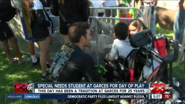Garces Memorial High School students host a day of play for special…