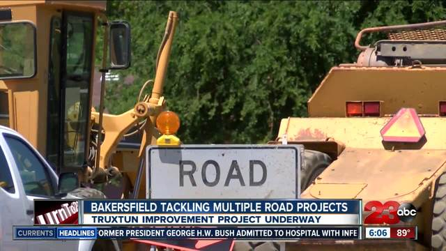 City of Bakersfield tackling multiple road projects