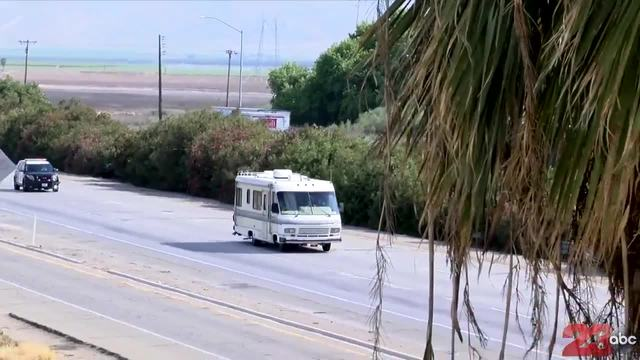 Los Angeles police chase RV possibly with child on board