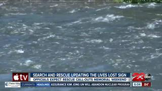 Kern River lives lost sign to be updated Friday