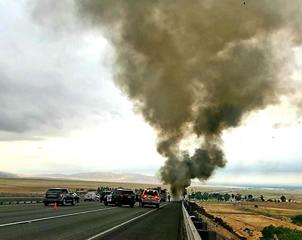 Truck fire causing delays on Grapevine