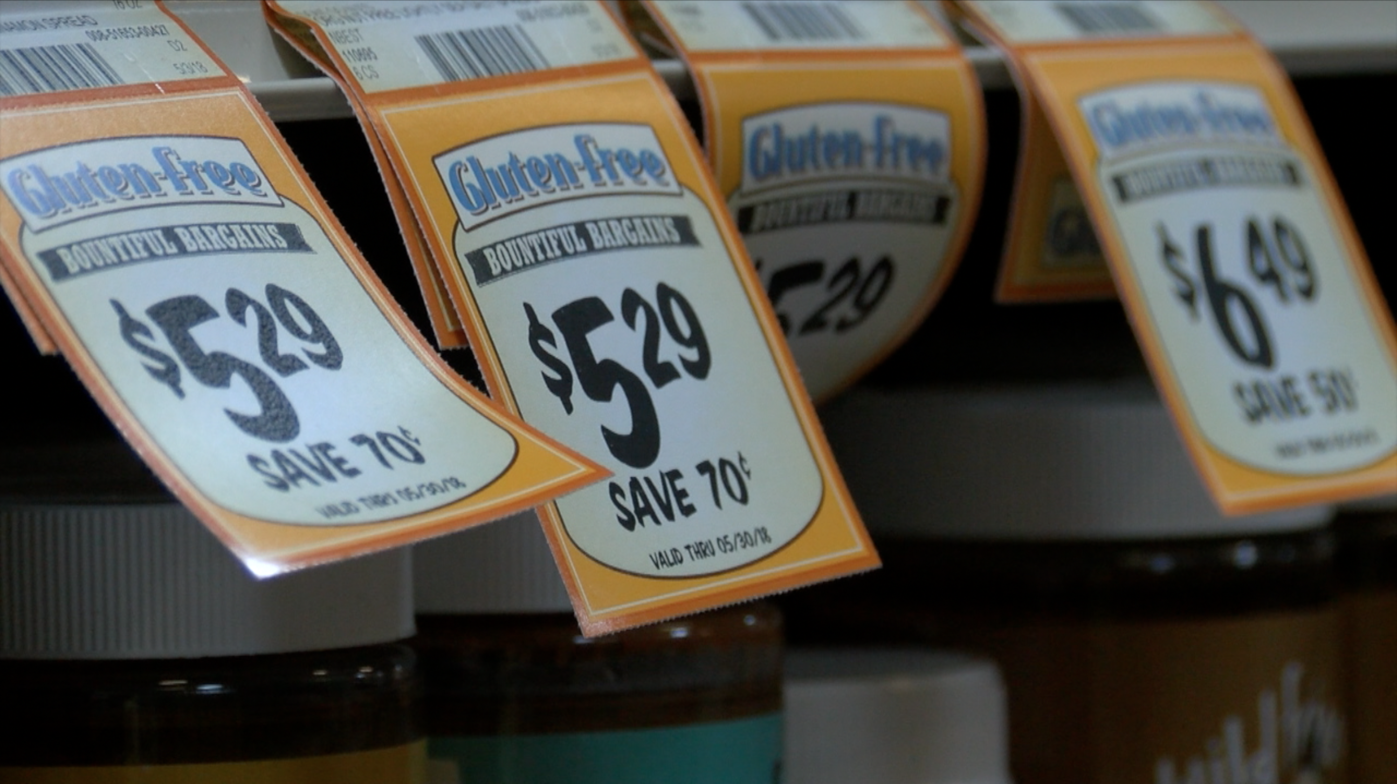 Gluten-free labels make grocery shopping easier.