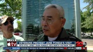Local veterans protest Jane Fonda's visit