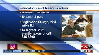 College hosting education and resource fair