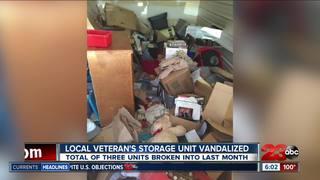 Veteran's Storage Unit Vandalized last month