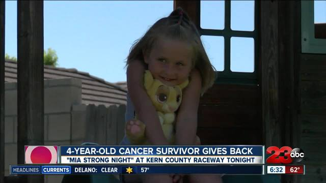 4-year-old cancer survivor giving back to those who need it