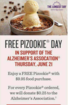 Pizookie Day benefits Alzheimer's Association