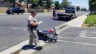 Motorcyclist dies with major head injuries